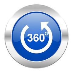 panorama blue circle chrome web icon isolated