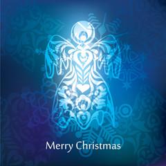 Vector christmas postcard design