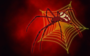 Big red spider