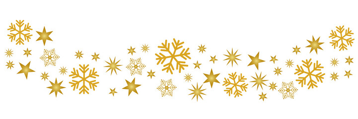 Schnee Muster gold