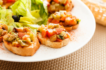 bruschetta with vegetables