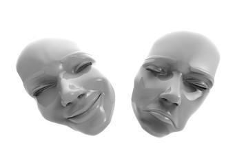 sad and happy masks