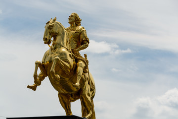 Equestrian statue of Augustus II the strong in Dresden