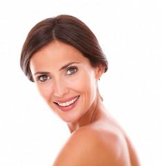 Sexy and beautiful woman smiling at camera