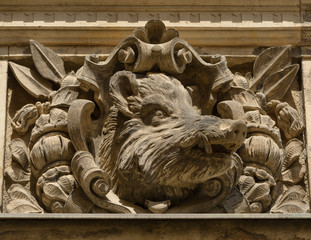 Architectural detail at Dresden historical center