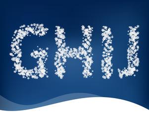 Snow letters
