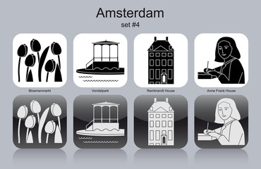 Icons of Amsterdam Wall mural