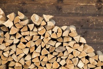 Poster de jardin Texture de bois de chauffage Firewood
