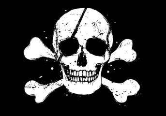 Black pirate flag