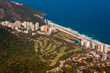 Aerial View of Luxury Condo Buildings in Front of the Beach