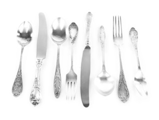 Tableware isolated on white