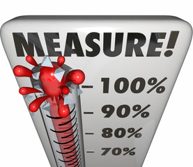 Measure Word Thermometer Level Rating Rising Increase Goal