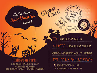 Halloween Party Postcard background