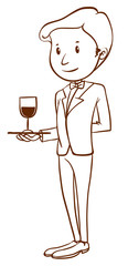 A plain sketch of a waiter