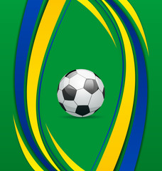Football background in Brazil flag concept