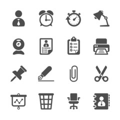 business and office work icon set, vector eps10