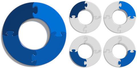Circle Puzzle 04 - Blue