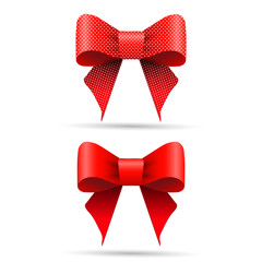Red gift bows.