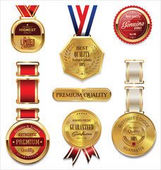 Premium quality golden medal collection