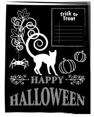 Halloween blackboard