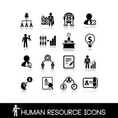 Human resource and management icons.Set vectors 4.