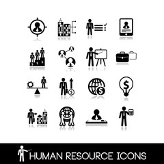 Human resource and management icons.Set vectors 5.