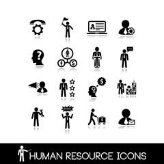 Human resource and management icons.Set vectors 7.