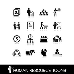 Human resource and management icons.Set vectors 12.