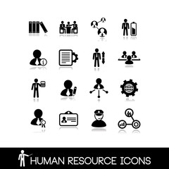 Human resource and management icons.Set vectors 13.