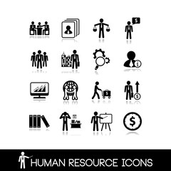 Human resource and management icons.Set vectors 15.