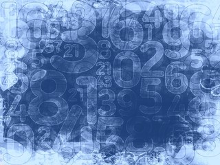frozen random numbers background or texture