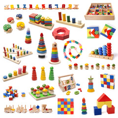 Colorful wooden beads toys