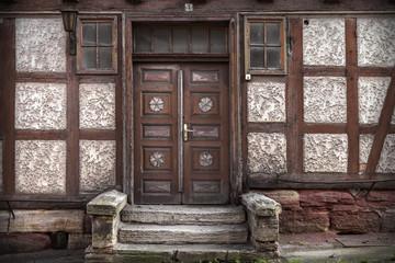altes Haus mit Fachwerk