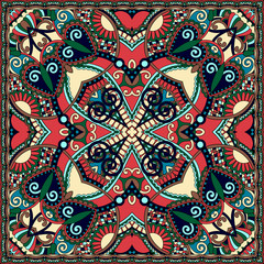 Tuinposter Marokkaanse Tegels Traditional ornamental floral paisley bandanna. You can use this