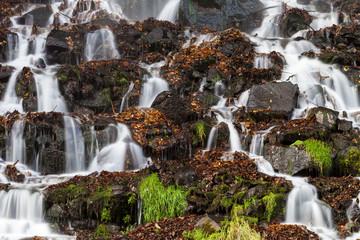 Gebirgsbach Wasser Wasserfall