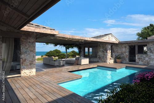 Patio con piscina immagini e fotografie royalty free su for Case moderne con piscina