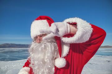 Portrait of Santa Claus outdoors