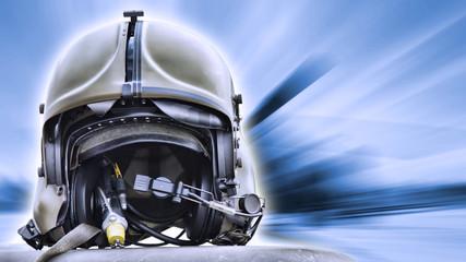 Helicopter pilot helmet