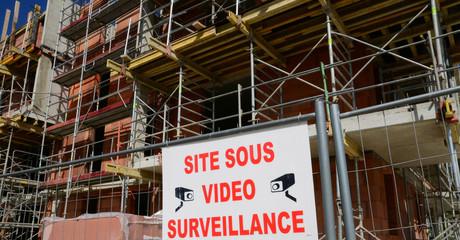 France; a building site in les Mureaux