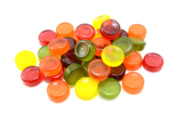 Pile of multi-coloured boiled sweets