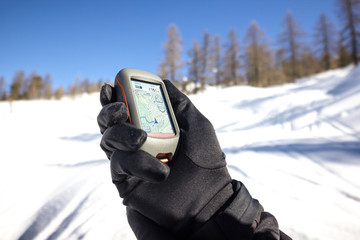 Gps satellitare in inverno