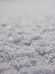 Snow surface winter