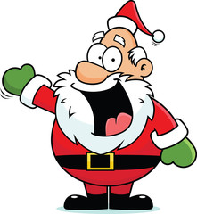 Cartoon Santa Claus Happy