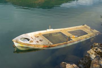 Greece doksa lake refelctions on water