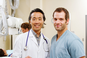 Profile of radiologist and technician