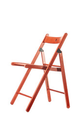 red wooden chair