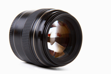 Camera lens, isolated on white background.