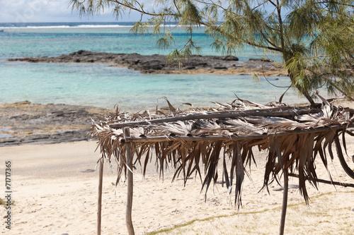 abri de paille contre le soleil sur plage de rodrigues stock photo and royalty free images on. Black Bedroom Furniture Sets. Home Design Ideas