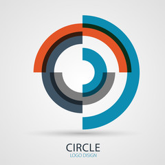 Vector spiral company logo design, business symbol concept
