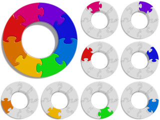 Circle Puzzle 08